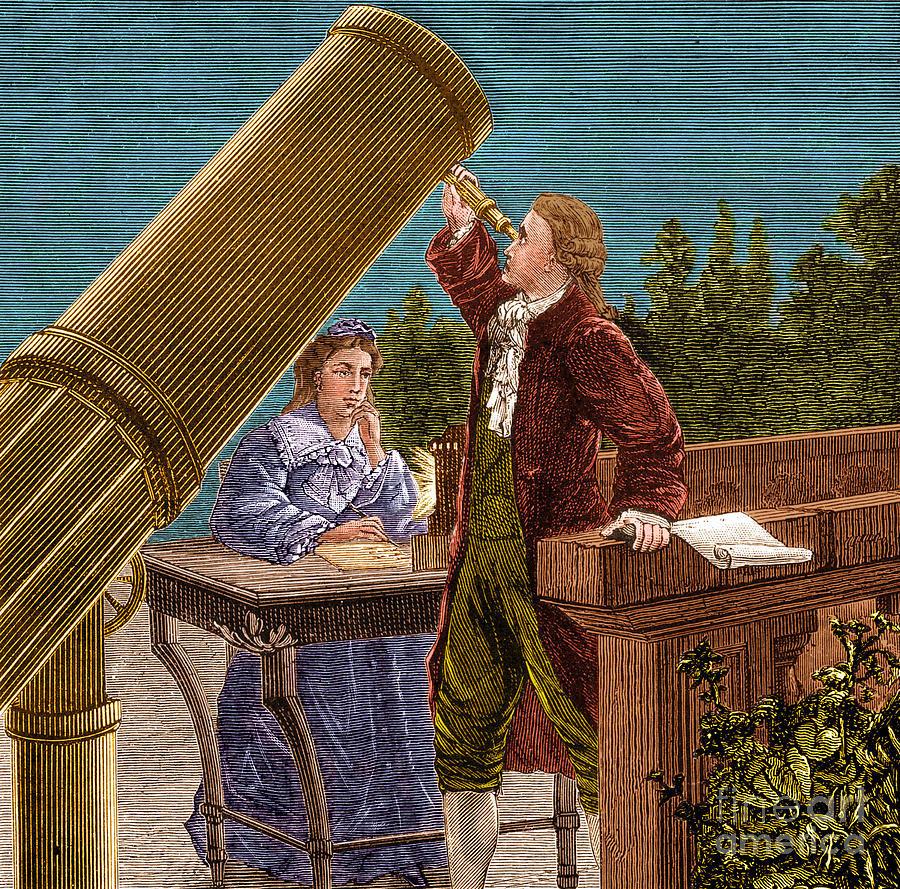 13 марта 1781 года (ночь, когда был открыт Уран). Рисунок на основе гравюры Поля Фуше