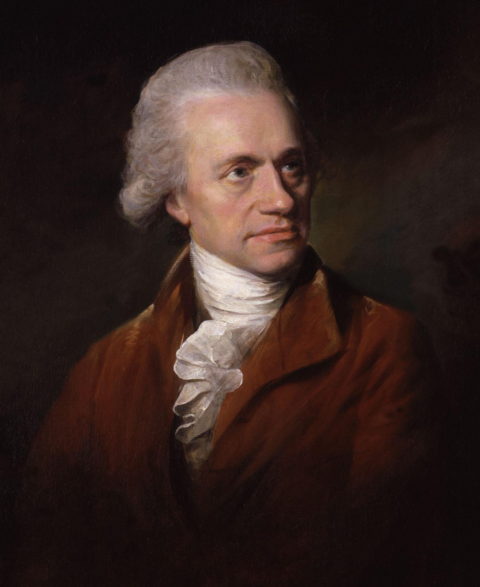 Сэр Уильям Гершель. Портрет кисти Лемюэля Фрэнсиса Эббота (1785). Национальная портретная галерея (Лондон)