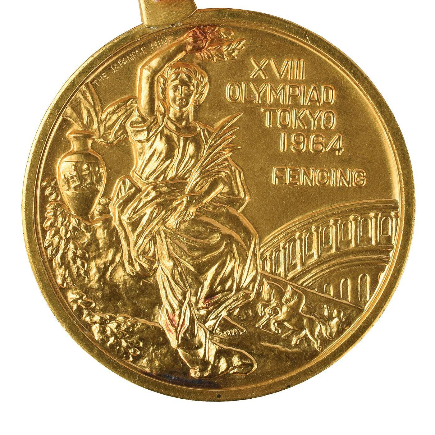 Золотая медаль Олимпиады 1964 года за фехтование