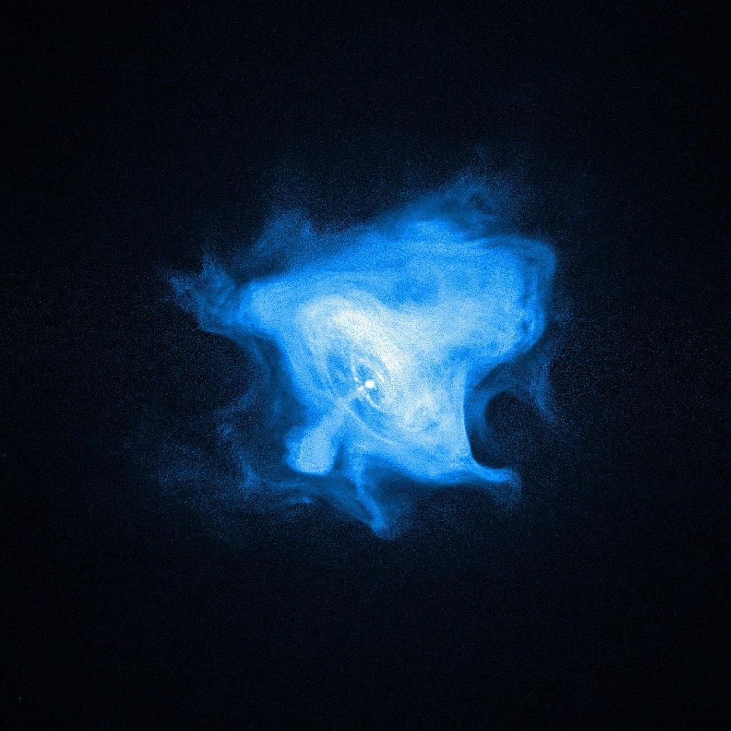 Крабовидная туманность в рентгене (с космического телескопа «Чандра»)