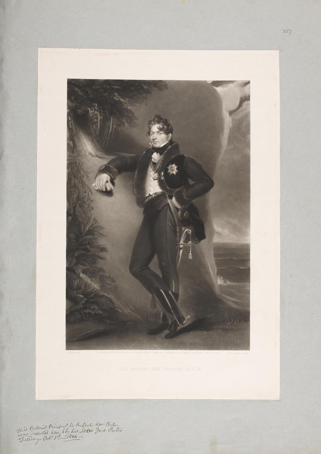 Портрет Роберта Кер Портера, написанный Уильямом Оукли Бёрджессом. 1843 год. Национальная портретная галерея (Лондон)