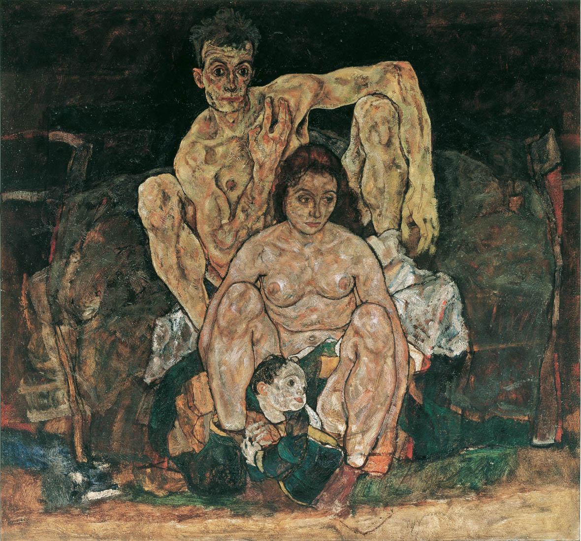 Эгон Шиле. Семья. 1918 год