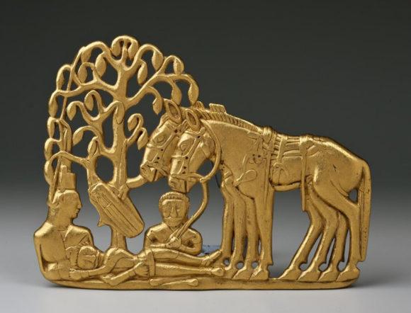Ажурная поясная пластина. V–I века до н.э. Из Сибирской коллекции Петра I