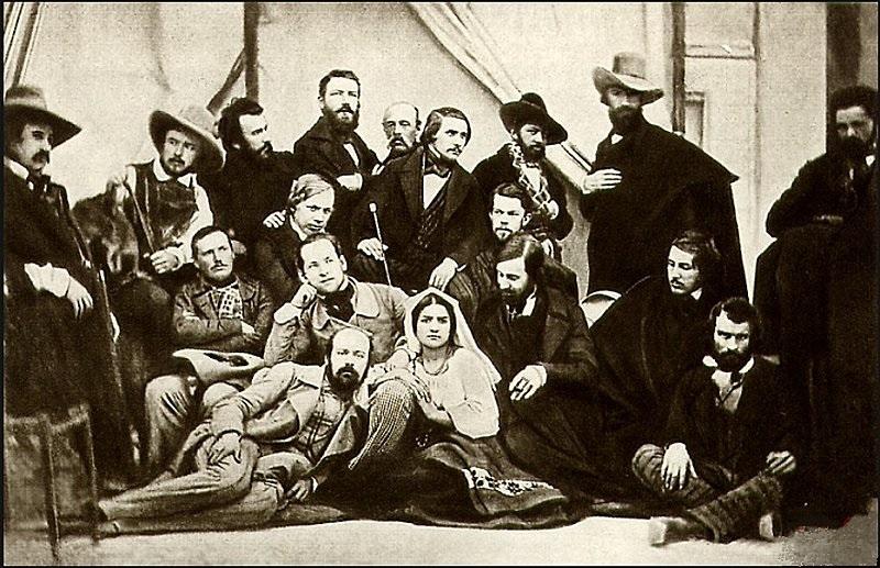 Н. В. Гоголь в группе русских художников в Риме (1845)