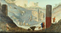Раскопки храма Изиды в Помпеях. Гравюра Пьетро Фабриса (1776)