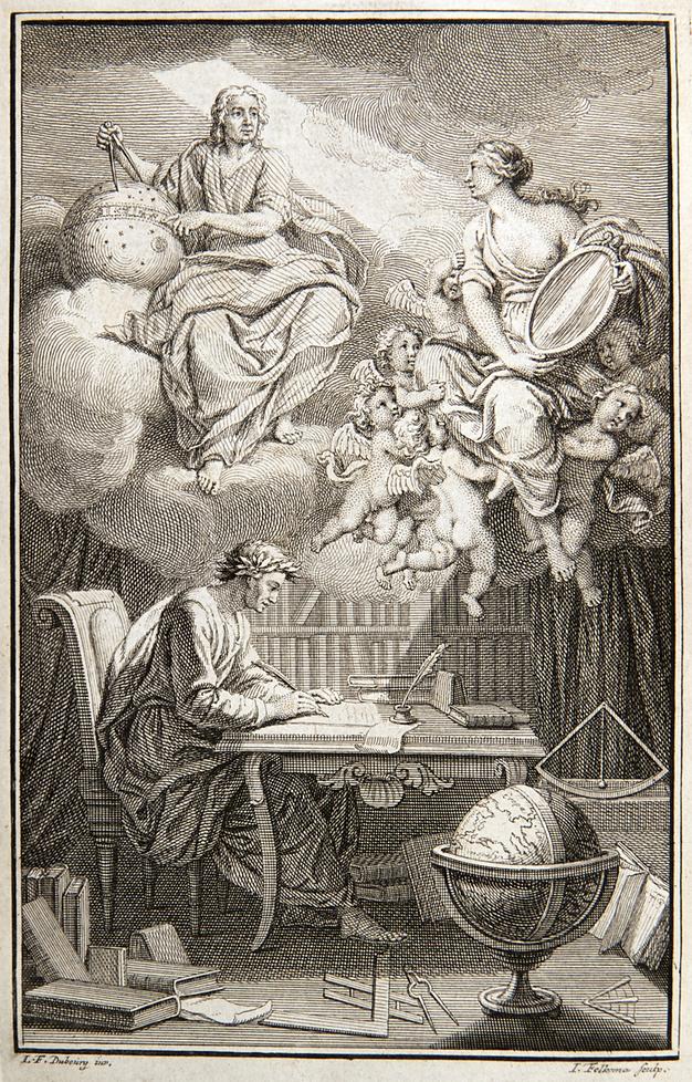 Гравюра из французского перевода «Математических начал натуральной философии»