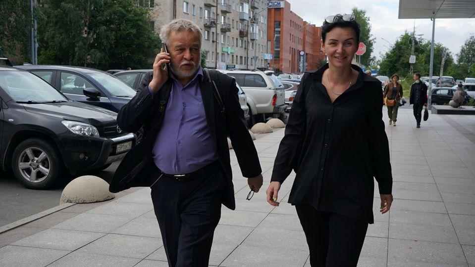 Историк Анатолий Разумов и дочь Юрия Дмитриева Екатерина Клодт. Фото Н. Деминой