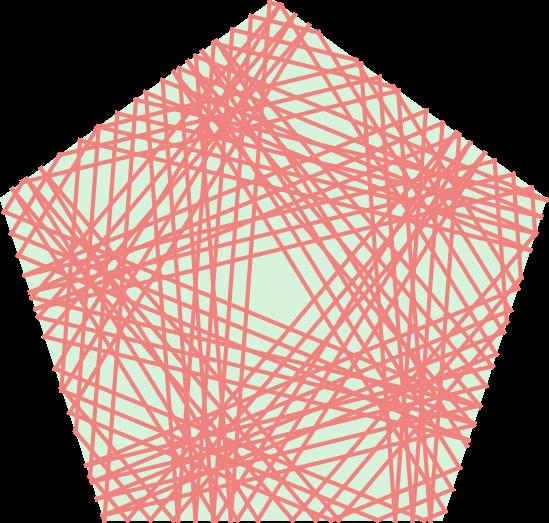 Траектории бильярдных шаров в столах необычной формы. Рис. С. Филипа