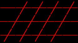 Решетчатая упаковка кругов (слоистая, плотнейшая)