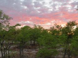 Закат в Ботсване. Фото А. Прозорова