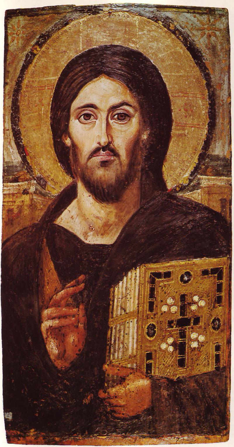 Христос Пантократор из Синайского монастыря (VI век)