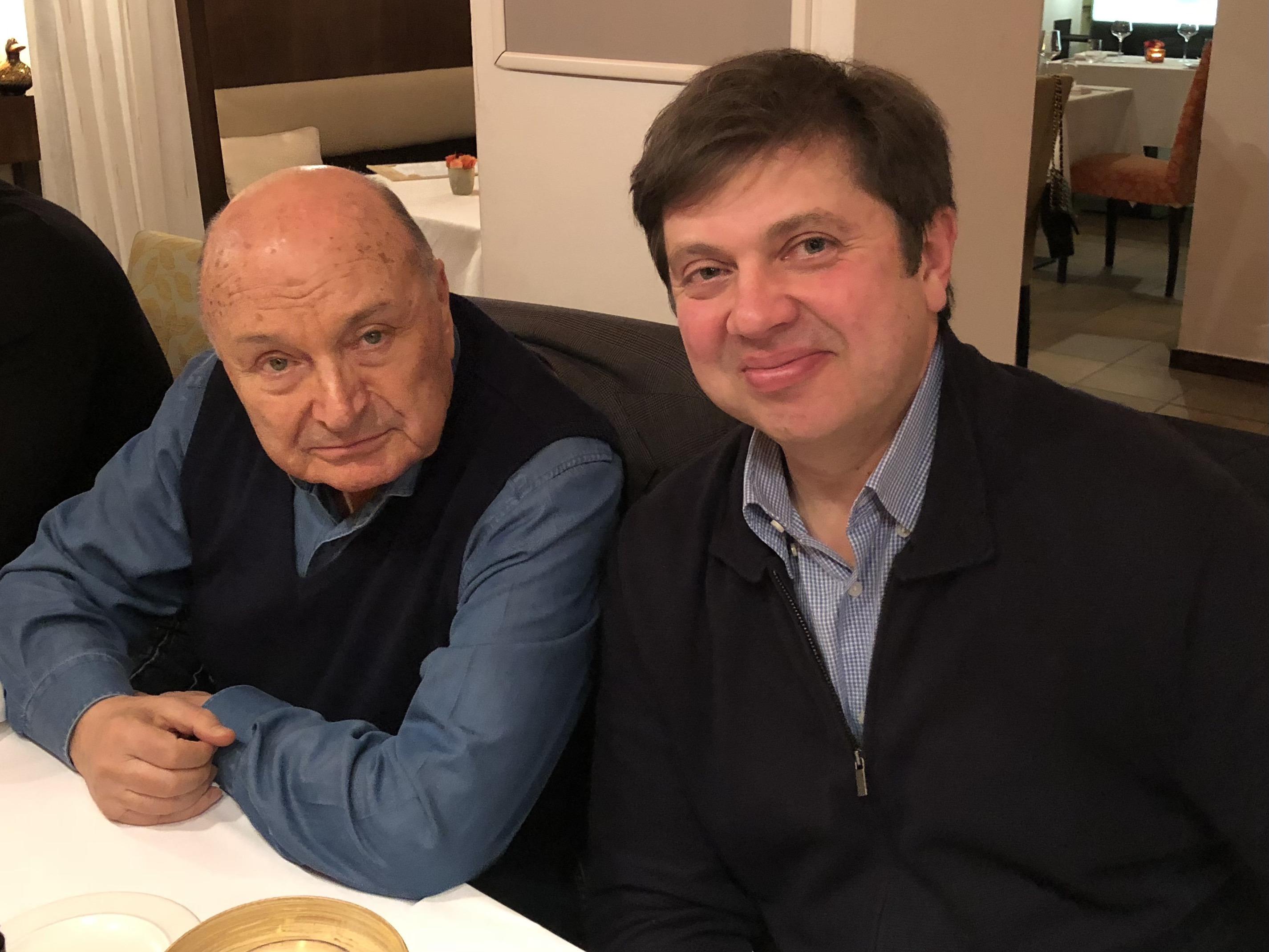 Автор и М. Жванецкий. Прага, 15 февраля 2019 года. Фото Н. Богачёвой