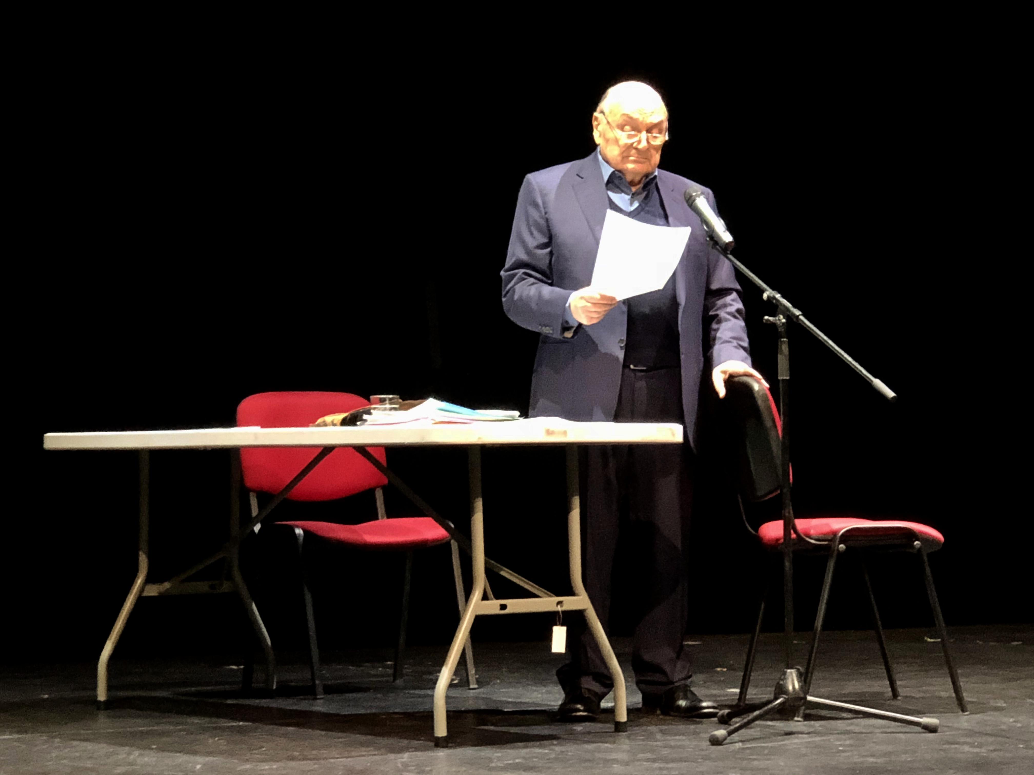 Выступление М. Жванецкого в Праге 15 февраля 2019 года. Фото автора