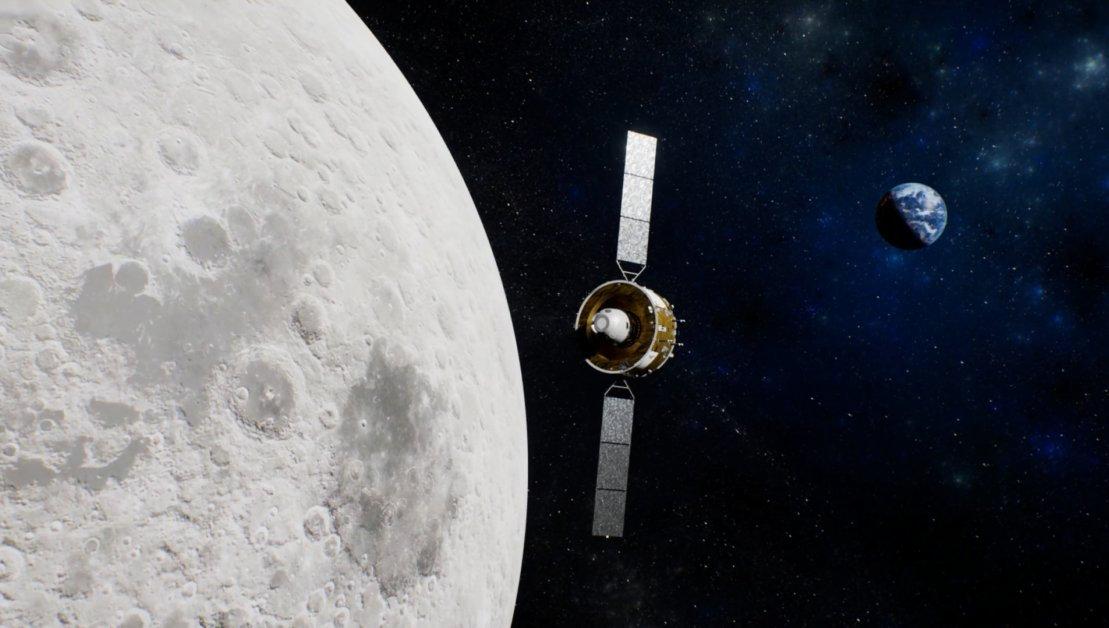 Аппарат «Чанъэ-5» в космосе (рисунок). ИА Синьхуа