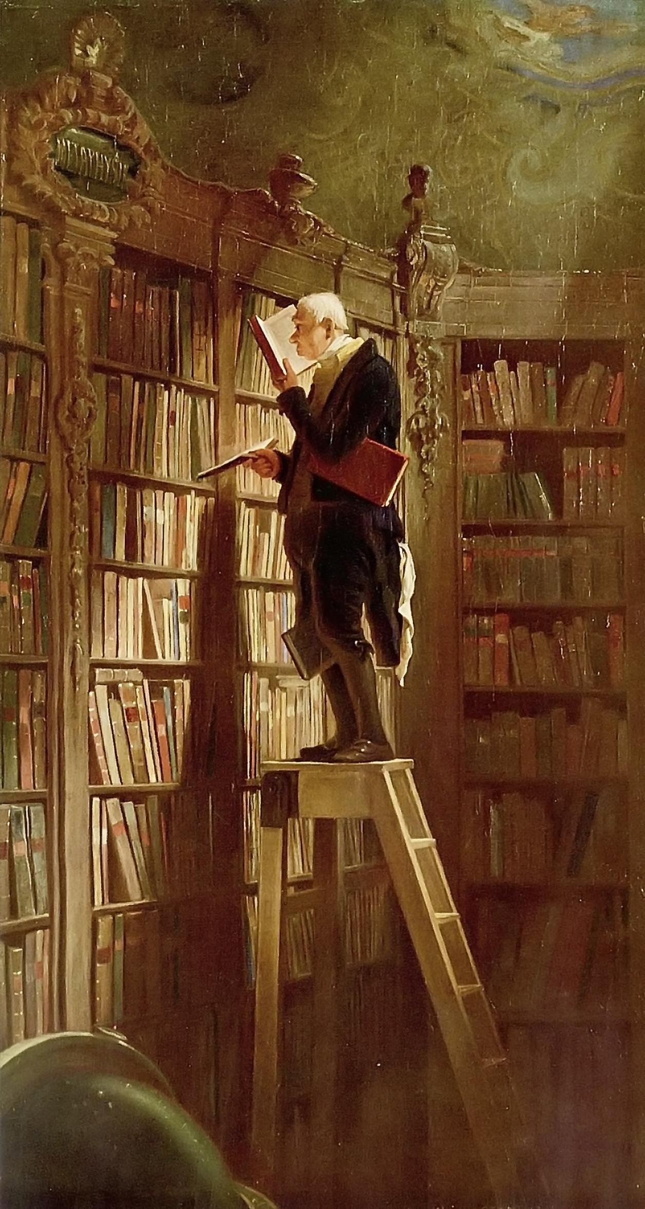 Карл Шпицвег. Книжный червь. 1850 год