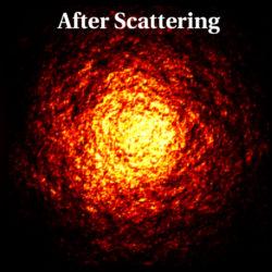 Рис. 4. Результат рассеяния радиоволн на неоднородностях межзвездной среды (Johnson и др., 2016, ApJ, 820, L10)