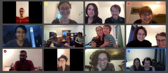 Сотрудники лаборатории Ф. Кондрашова отмечают первый день рождения в режмие онлайн