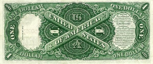 Рис.4. США, 1 доллар (1917), оборотная сторона