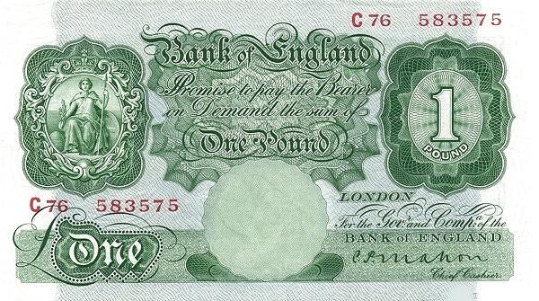 Рис.10. Англия, 1 фунт (1928) (лицевая сторона)