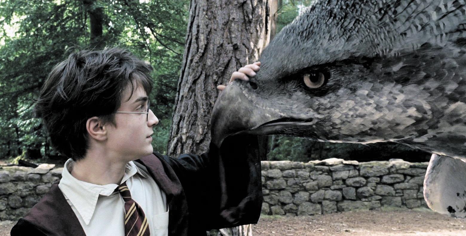 Гарри и гиппогриф Клювокрыл (кадр из фильма «Гарри Поттер и узник Азкабана»)