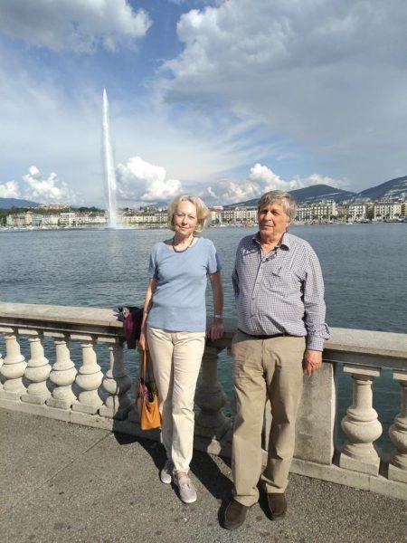 В.В. Белый с Анн Боти, бывшим послом Швейцарии в Узбекистане, Женева, 2019 год