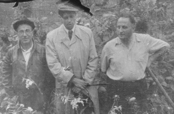 Я. Б. Зельдович, А. Д. Сахаров и Д. А. Франк-Каменецкий. Саров, 1950-е годы