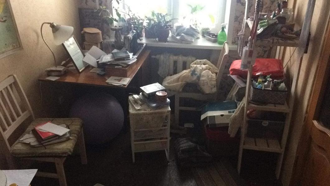 Комната после обыска. Фото из личного архива Светланы Прокопьевой / FB