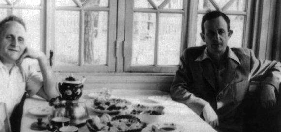 Д. А. Франк-Каменецкий и Ю. Б. Харитон. Саров, начало 1950-х. Фото с сайта garfield.chem.elte.hu/combustion/Frank-Kamenetskii/DAFK.htm