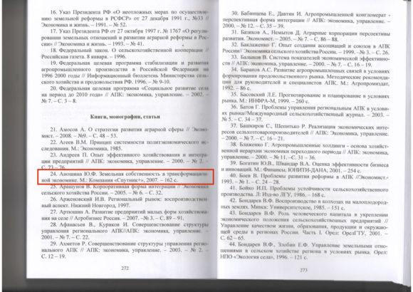 Список литературы из печатного экземпляра