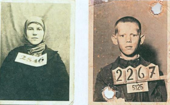 Фотографии на регистрационные документы. Слева: Померания, 1943. Справа: Виттенберг, 1942