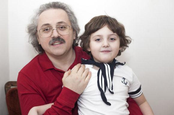 А. Сергеев с дочерью