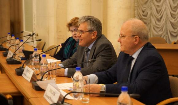 С. Попова, А. Сергеев, А. Хохлов на встрече с просветителями