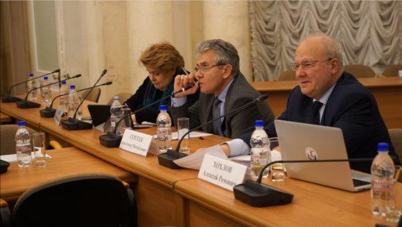 А. Сергеев на встрече с популяризаторами в РАН