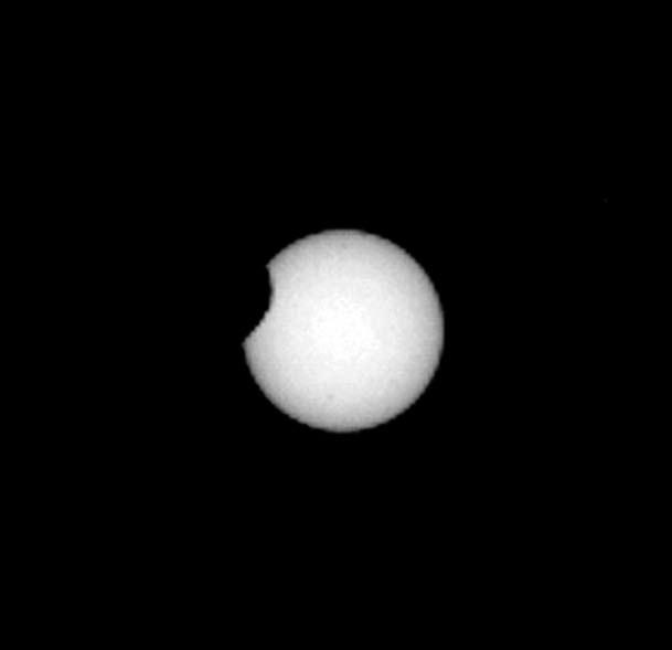 Марсианское солнечное затмение